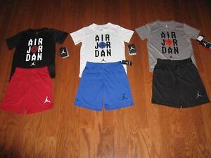 Air Jordan  2 Piece T-Shirt /& Shorts Outfit Set  Boys Size  4//5//6//7 NWT