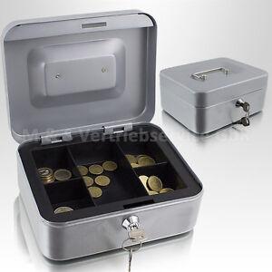 20cm-hellgrau-Geldkassette-Muenzkassette-Zaehlkassette-Transportkassette-Kasse
