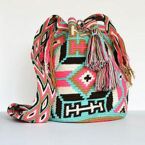Image Is Loading Authentic Wayuu Bags Mochila Colombian Bag 100 Handmade