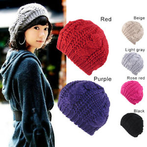 bcda48255bd Women Lady Winter Warmer Knit Crochet Slouch Baggy Beret Beanie Hat ...
