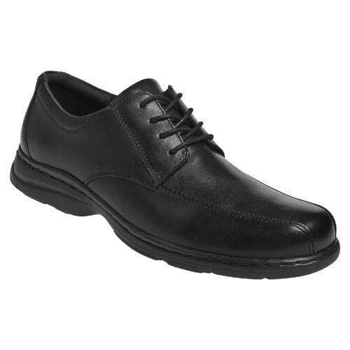 Dunham DAA03BK Men/'s Bryce Black Dress Leather Lace-Up Lightweight Oxford Shoes