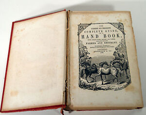 Antique-1856-Complete-Guide-Hand-Book-Farmers-Emigrants-Recipes-Cookery-Laws