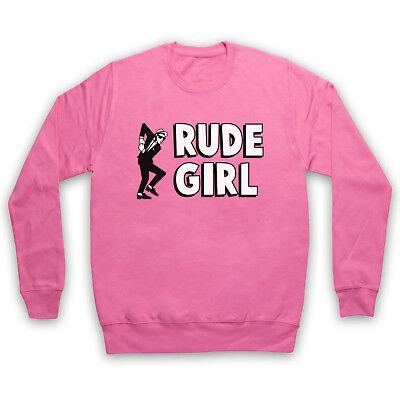 RUDE GIRL JAMAICAN STREET CULTURE SLOGAN 2 TONE SKA FAN ADULTS KIDS SWEATSHIRT