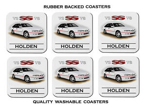 95-039-96-039-HOLDEN-VS-SS-COMMODORE-V8-SET-OF-6-RUBBER-DRINK-COASTERS