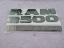 15-18 Dodge Ram 3500 Heavy Duty Flat Black Nameplate Logo 68276964AA Emblems