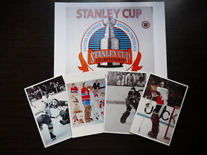 LOT-5-NHL-HOCKEY-PHOTO-COLOR-FINISH-CLEAR-GLOSSY-KEN-DRYDEN-GOLAIE-LOT5
