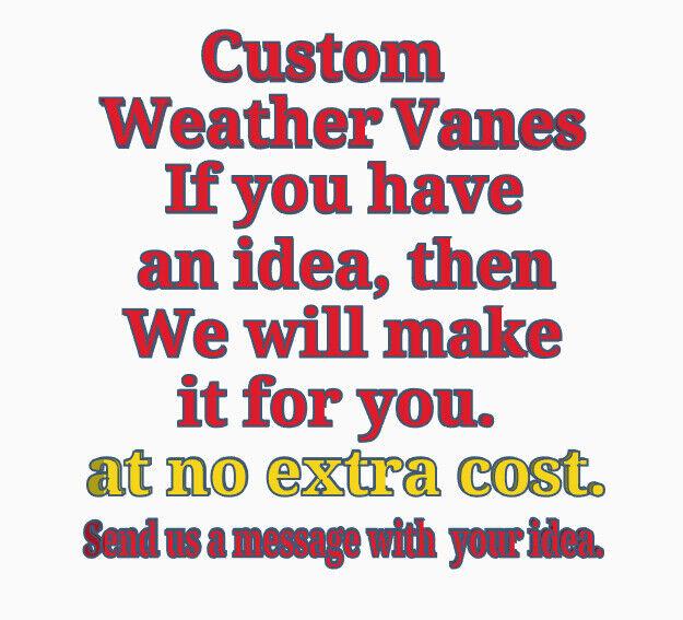 Custom Acrylic Garden Weather Vane Wall, Pole or Post Mounted