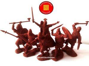 """""""Publius"""" - Saxon Warriors Set #1, 6 Caoutchouc Jouet en plastique soldats 1:32"""