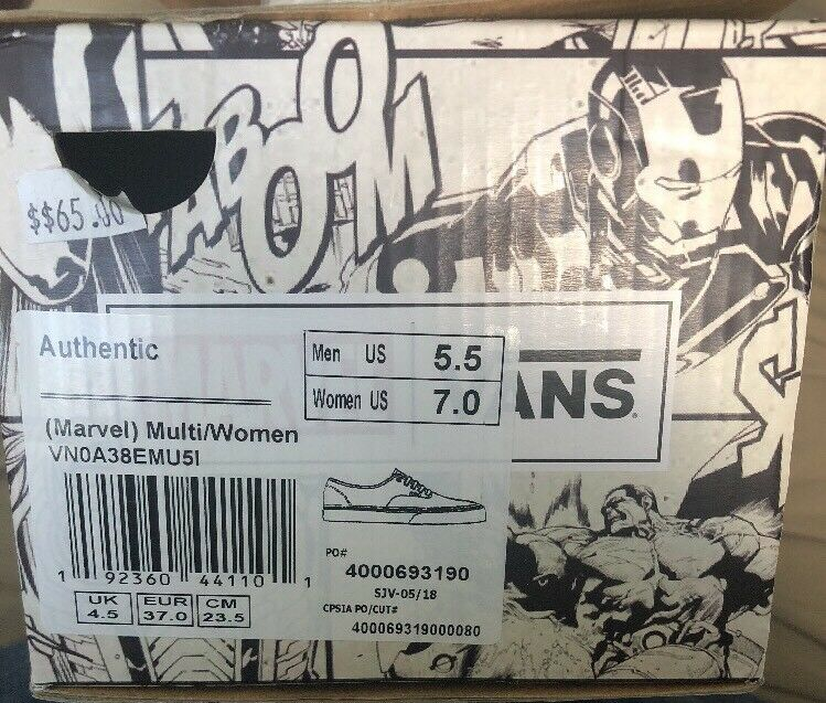 Van's X Authentic Authentic Authentic Marvel Multi Super Hero Theme Damens's SZ 7.0 Men's SZ 5.5 New 2ff614
