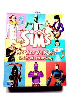 Sims-Plus-Vivants-que-Jamais-Expansion-Boite-Large-PC-comme-Neuf-Parfait-Etat