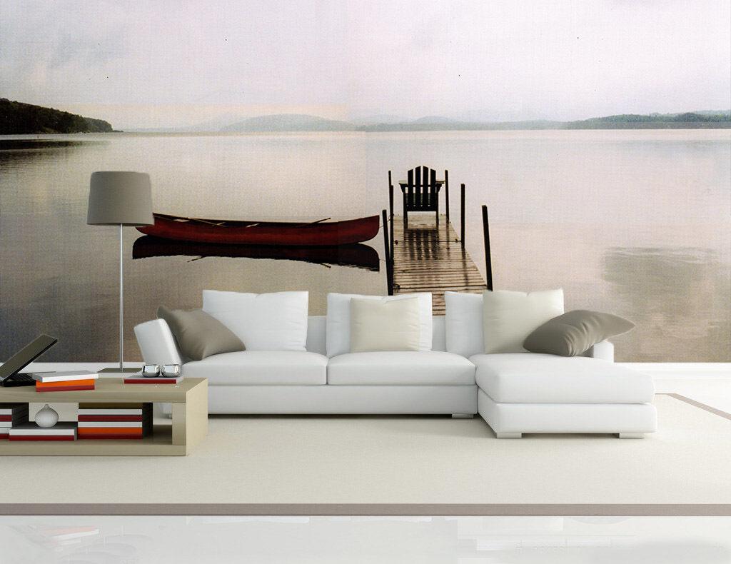 3D Mega Calm Lake Scenery 124 Wall Wall Wall Paper Wall Print Decal Wall AJ Wall Paper d52433