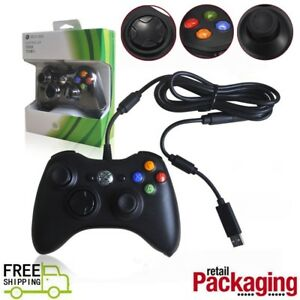 Wired-Xbox-360-USB-Remote-Game-Controller-Gamepad-for-PC-Windows-XBOX-360-Black