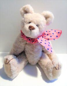 7-034-Artist-made-Beige-Faux-Fur-Teddy-Bear-034-Winchester-034-by-Beth-Diane-Hogan-OOAK