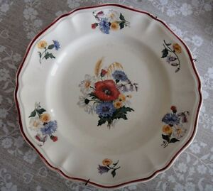 ASSIETTE DECORATIVE EN FAIENCE DE SARREGUEMINES DECOR AGRESTE iztmAKcr-09093436-738097934
