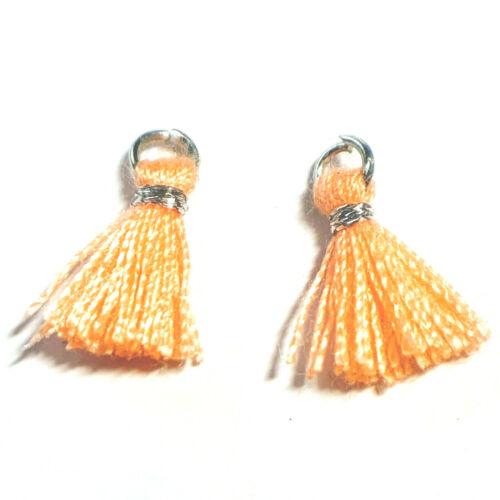 53243 2 pièces NEON-Orange Ibiza Style 10 mm Miperla Oliv argent