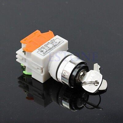 Security Lock Key Switch HeavyDuty Keyed Power Ignition LAY7-11Y/2