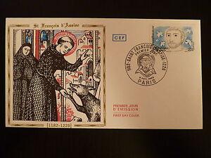 France Premier Jour Fdc Yvert 2198 St Francois D Assise 2f Paris 1982
