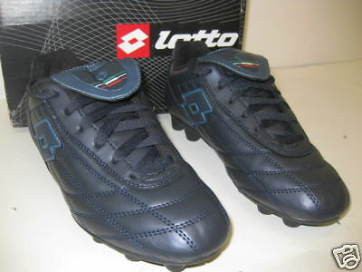 """NAVY #G4177 NEW LOTTO-/""""CLASSE HG JR/""""-SOCCER CLEATS"""