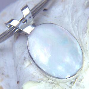 Selbstbewusst Gehemmt Befangen Unsicher Verlegen Perlmutt Anhänger & Verschluss 29mm Silber 925 Kombi Clasp & Pendant Evo1 Ii