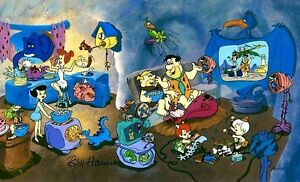 Hanna-Barbera-Signed-Flintstones-Cel-Wacky-Inventions-Rare-Number-1-HC-Edition