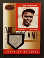 JACKIE ROBINSON HOLY GRAIL 2001 Leaf Certified Fabric Game FOTG JERSEY SSP 1/1?