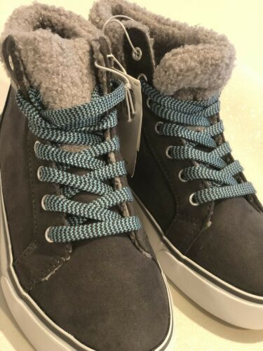 Faux-Suede Sherpa-Trim High-Tops for Girls