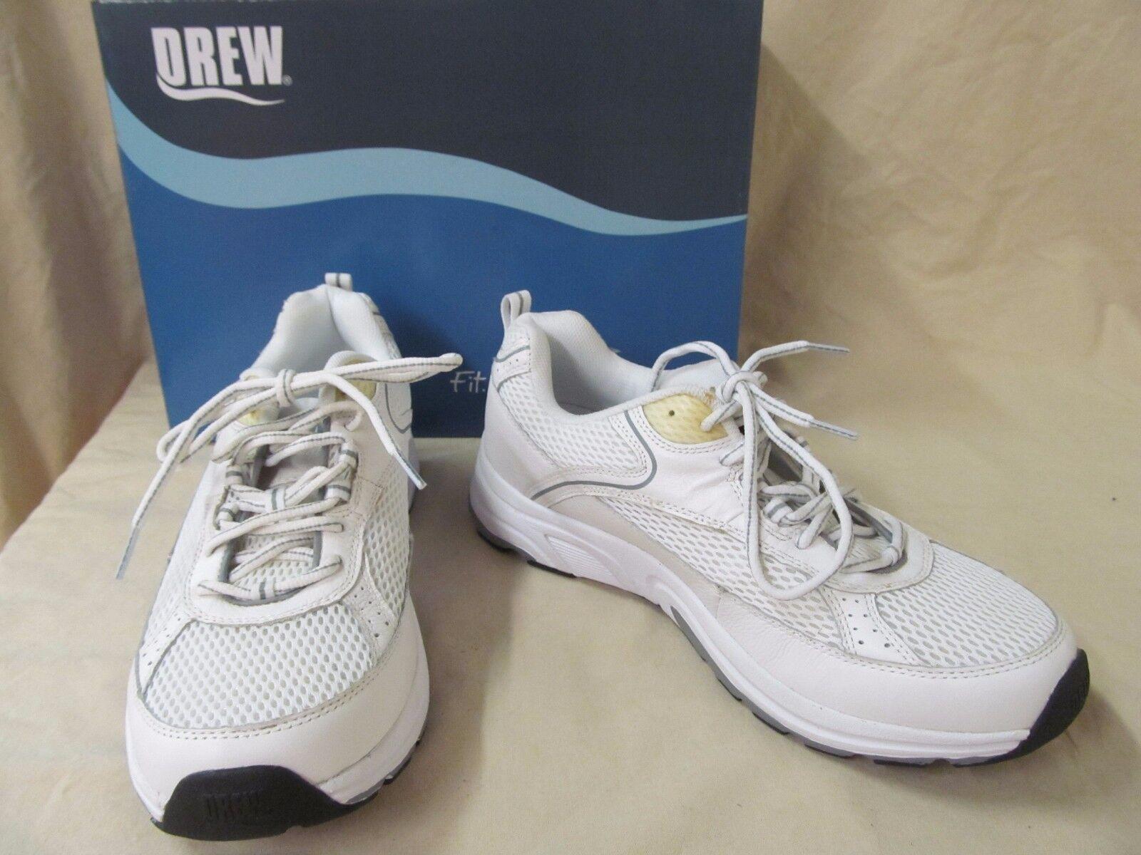Nuevo con defectos Drew 10 Aaron Cuero blancoo Malla M ortótica Zapatos Tenis Deportivas con Cordones