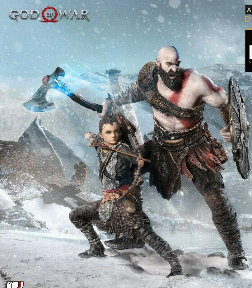 God of War (2018) - Kratos & atreus 1 10th Scale Statues