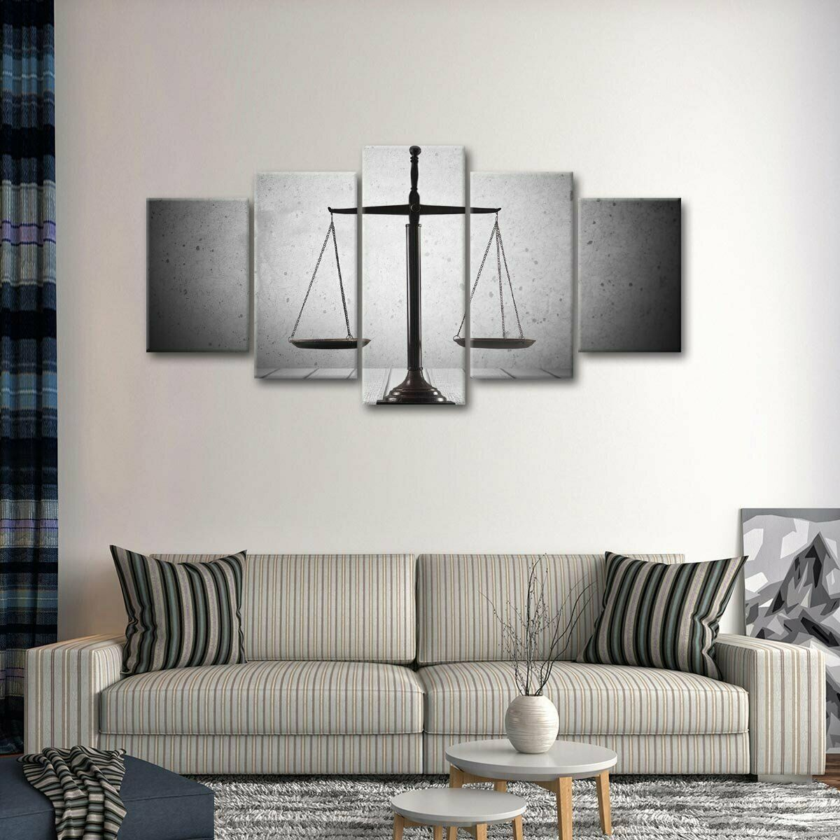 Balanced Justice 5 panel canvas Wall Art Home Decor Poster Print