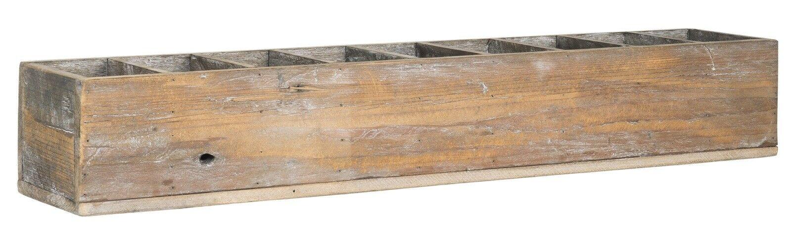 Großer Holzkasten  9 Fächer Holz braun natur  Dekokasten IB Laursen