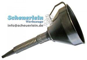 Kunststoff Trichter Einfülltrichter flexibel Oeltrichter Ölwechsel Motorrad Neu