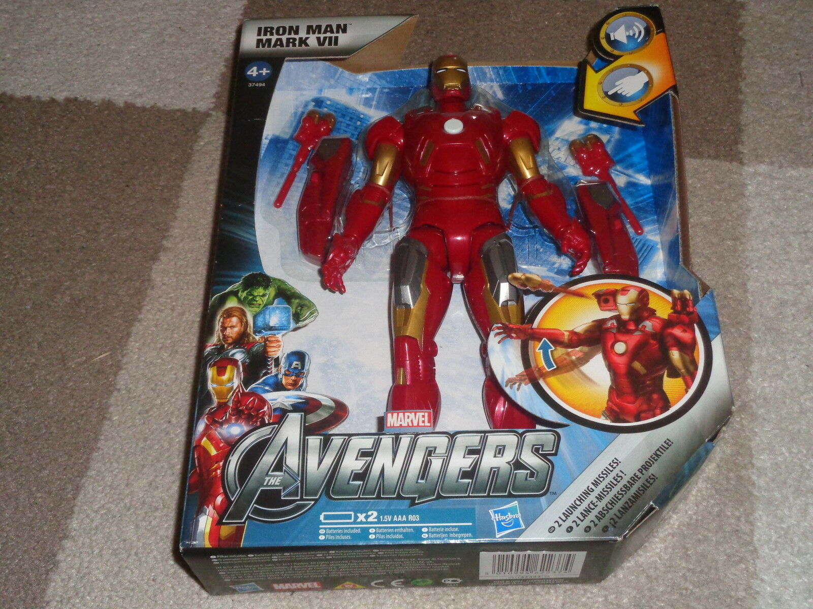 MARVEL,THE AVENGERS IRON MAN REPULSOR STRIKE,MARK 7 ACTION FIGURE,VERY RARE