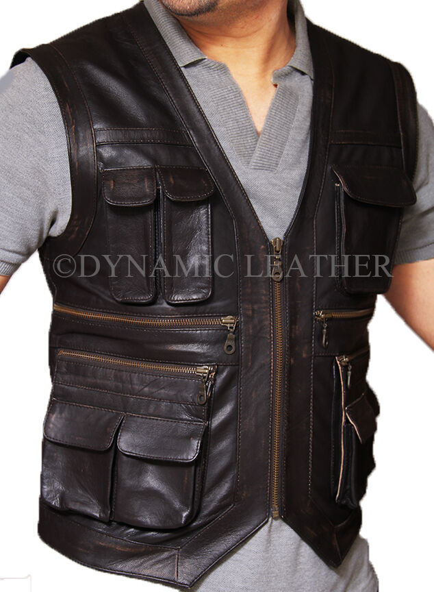 Jurassic World Owen Grady Faux Leather Vest - ALL SIZES AVAILABLE