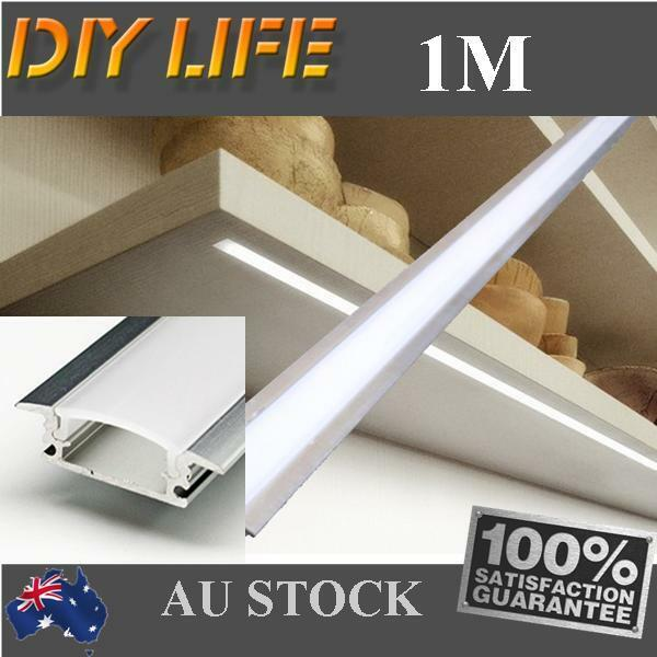 1M Edge Alloy channel Aluminium Profile bar for Led Strip Light Cabinet Kitchen