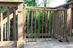 Details About Cardinal Outdoor Patio Deck Stairway Special Adjustable Width  Pet Safety Gate