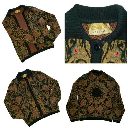 VTG  Catalina Jacquard Cardigan Sweater sacred geo