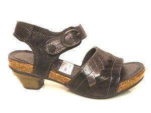 Sandaletten Metallic Leder Jomai Klett Grau Details Schwarz Zu ThinkSchuhe Sandalen lKJTFc1