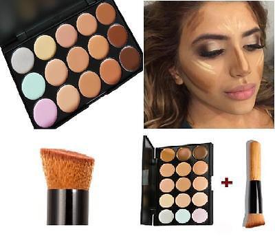 15 Color Contour Face Makeup Concealer Camouflage Neutral Palette Kit Set+ Brush