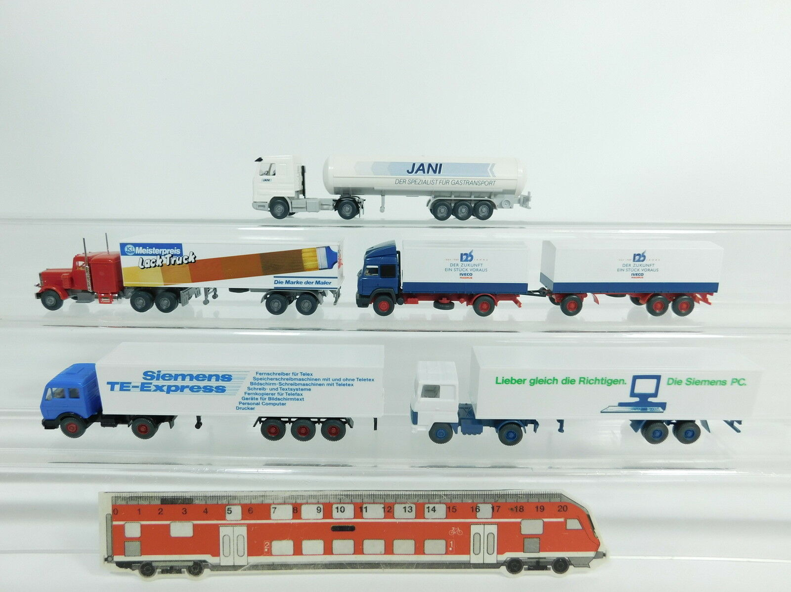 BB802-0,5x Wiking H0 AUTOCARRO  Mercedes+Ford+Scania Jani+Iveco+Vernice
