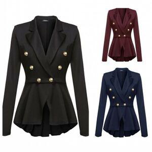 Women's Skirt-style Slim Fit Suit Jacket Business Formal Office Ladies  Blazers D | eBay