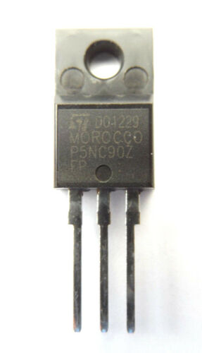 STP5NC90ZFP contrassegnato P5NC90Z FP Trans MOSFET N-CH 900V 4.6A 3-Pin TO-220FP
