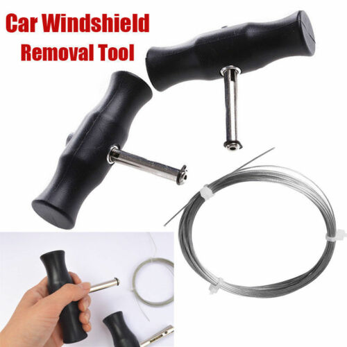 Car Windshield Windscreen Removal Tool Window Glass Cutting Wire Handle Kit