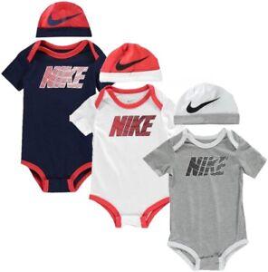 Details zu ✅ NIKE Baby Just Do It Jungen Mädchen Body Strampler Unterwäsche  Mütze Kleidung