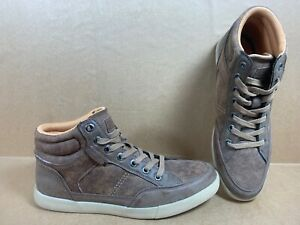 Guess-GM-Joaquin-R-Men-Sz-10-Brown-Hightop-Fashion-Sneaker
