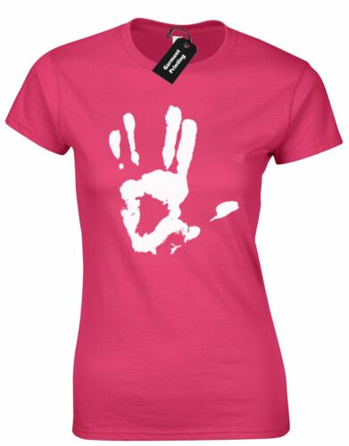 TREKKIE HAND LADIES T SHIRT SCI-FI MOVIE NOVELTY VULCAN STARFLEET RETRO BONES TV