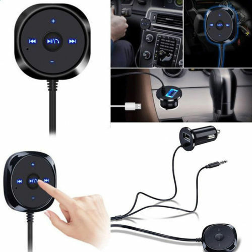 Wireless Receiver BT Music Audio to AUX Adapter Car Kit 3.5mm A2DP Speaker MIC