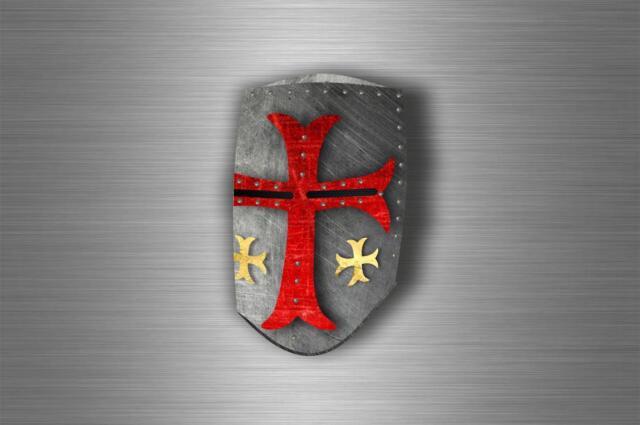 Sticker car biker maltese shield airsoft decal crusader cross templar knights C