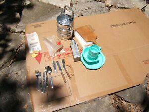 Hunting or Camping Aluminum Mess Kit - Cup, Pan, Pot and Plates LOT