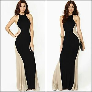 Elegant-Women-s-Formal-Two-Tone-Mermaid-Style-Maxi-Long-Evening-Dress-Sz-8-18