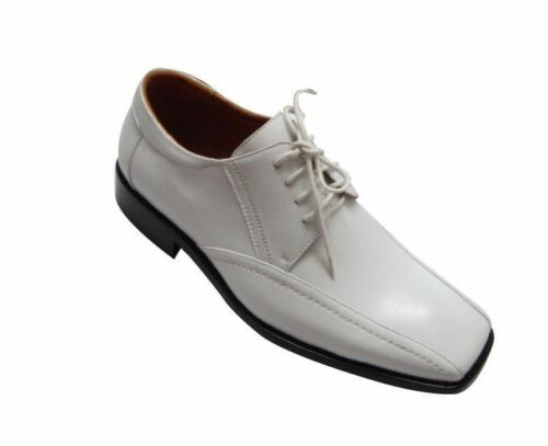 Men/'ss Fashion Oxford Faux Croc-Embossed Leather Dress Shoes White style-5733